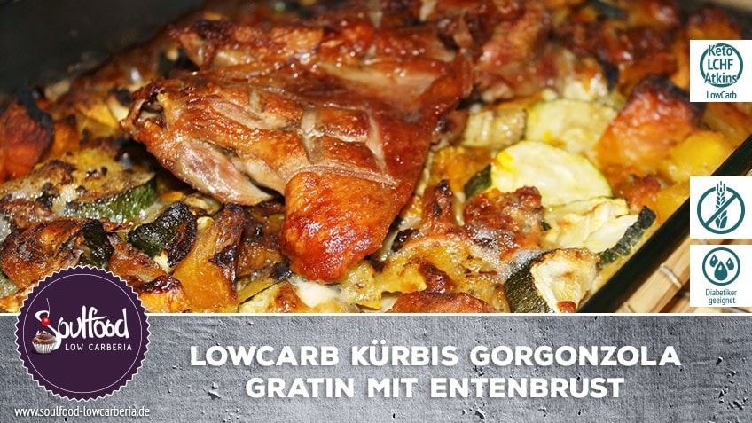 Low-Carb Kürbisgratin