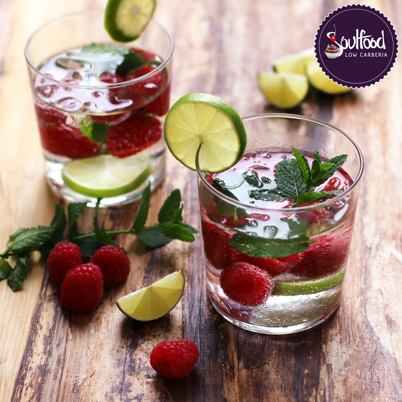 lowcarb cocktail himbeer mojito soulfood lowcarberia blog. Black Bedroom Furniture Sets. Home Design Ideas