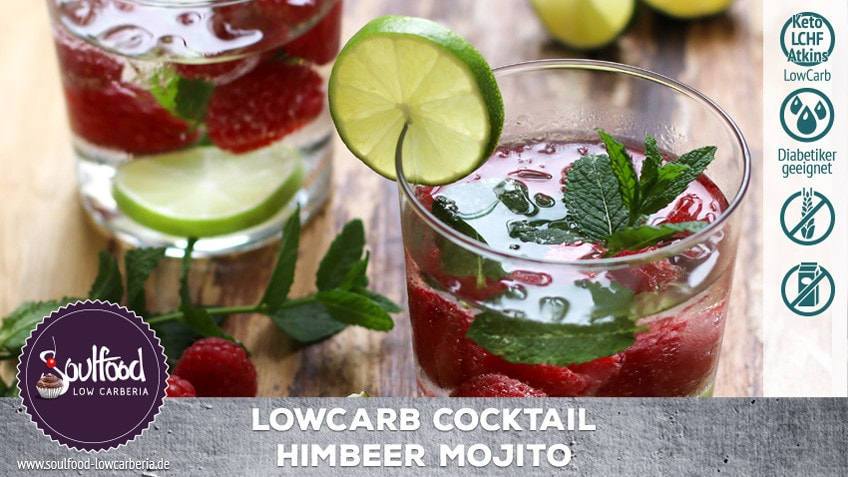 Low Carb Himbeere Mojito