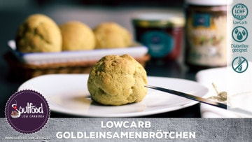 Low Carb Goldleinsamenbrötchen