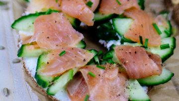 Low Carb Bagel Lachs Gurke